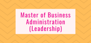Master of Business Administration (Leadership)
