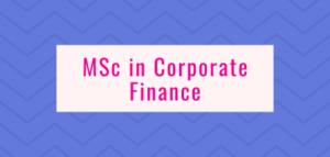 MSc in Corporate Finance