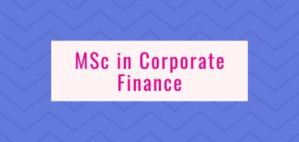 MSc in Corporate Finance