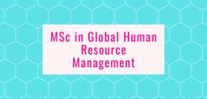 MSc in Global Human Resource Management
