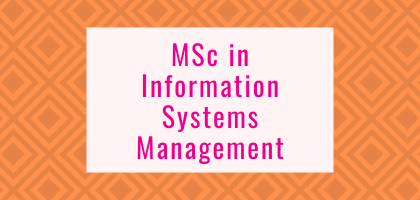 MSc in Information Systems Management