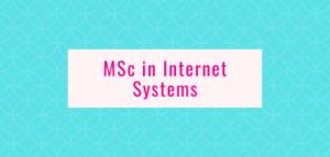 MSc in Internet Systems